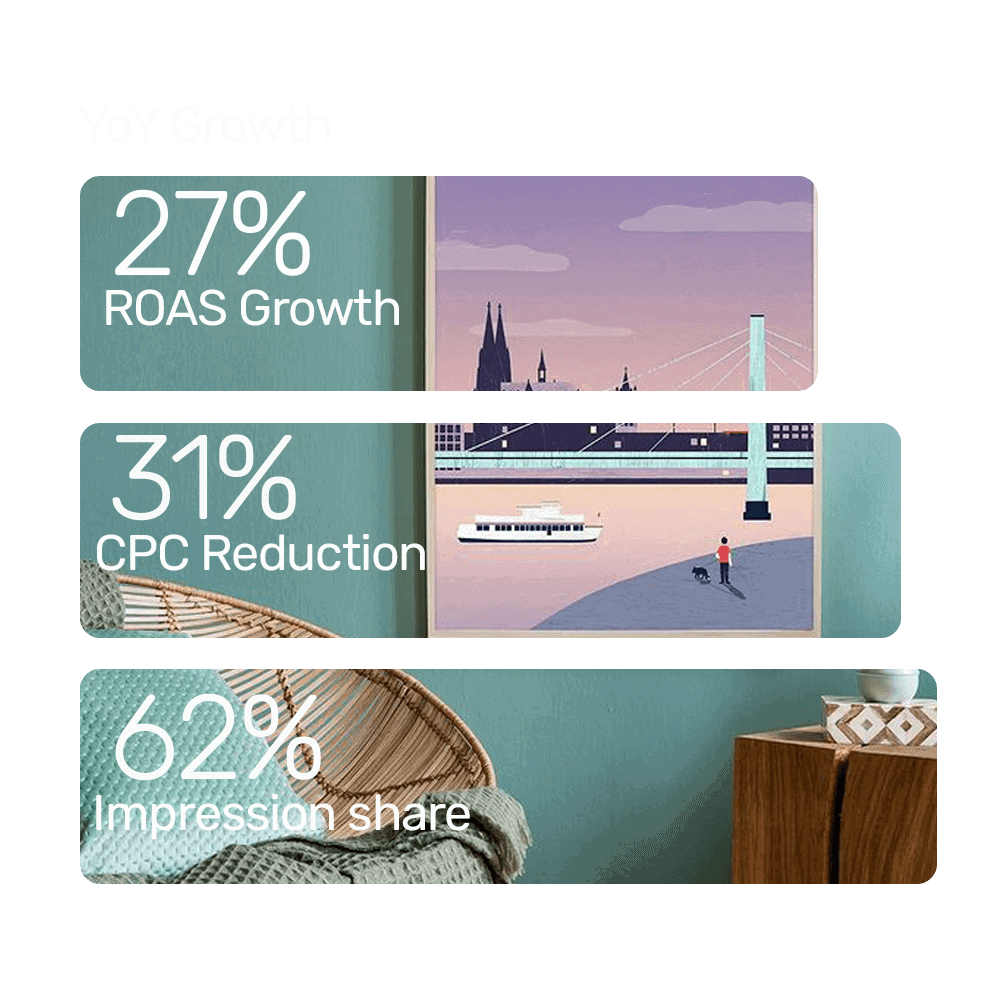 Happy Little Home boosts ROAS by 27% using Bidnamic's Targeted Search Term algorithm : Bidnamic