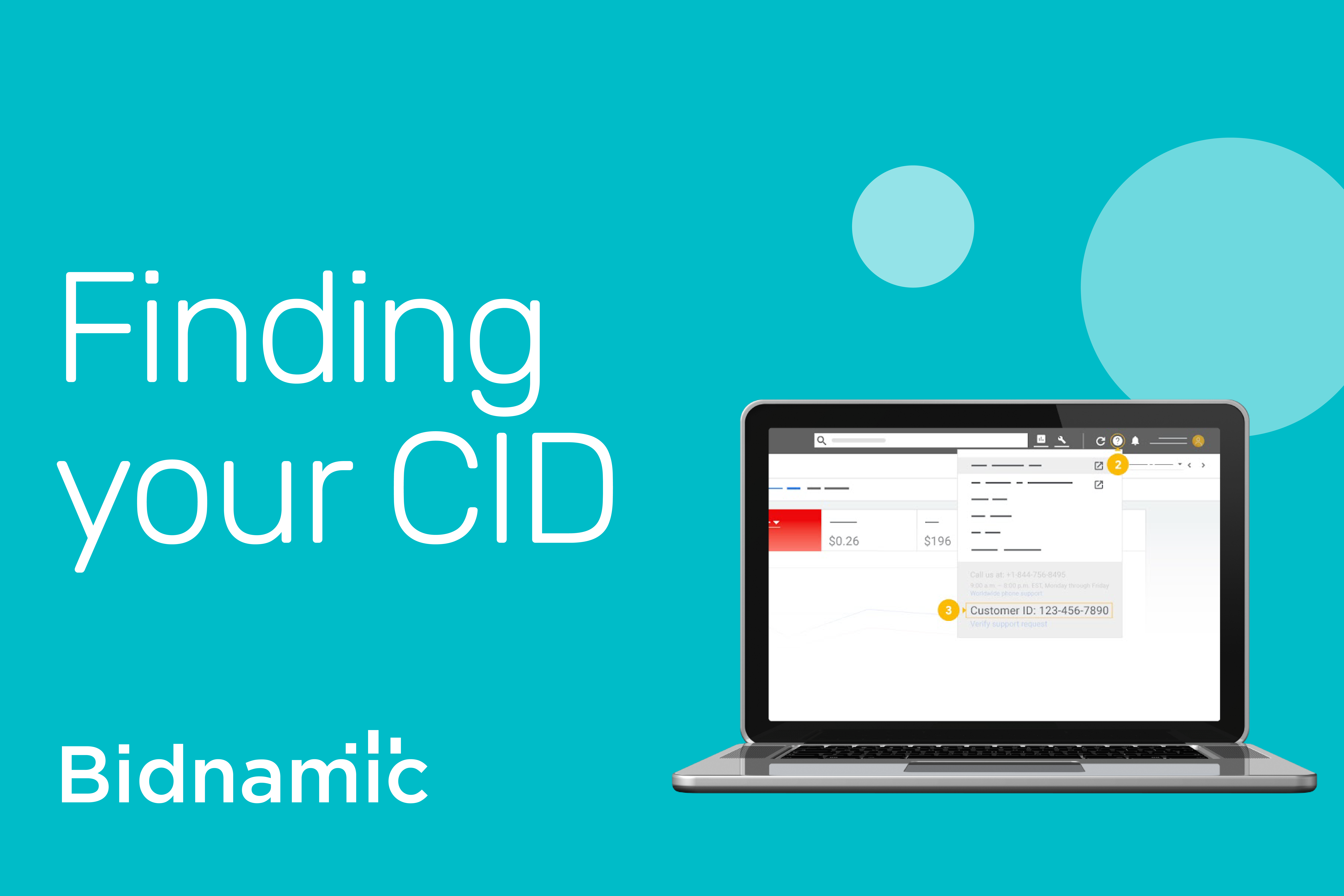Bidnamic's guide to finding your CID number